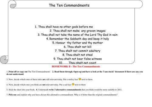 Ten Commandments- Are they still relevant? by Flora Hoori ...