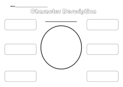 Template for Character Description by asharp22 - UK Teaching Resources ...