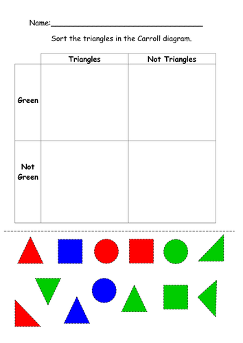 Carrol    diagram    2D    shapes     cut and stick by ruthbentham