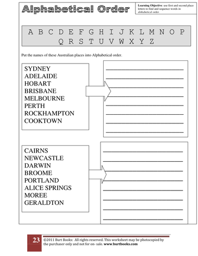 Alphabetical Order Worksheet 3 By Coreenburt