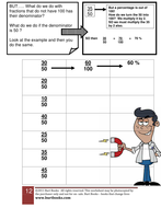 Changing a fraction into a percentage worksheet 2 by coreenburt ...