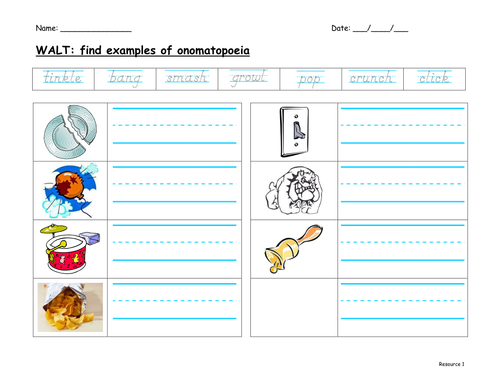 Worksheets Onomatopoeia Worksheet onomatopoeia by f8f1 teaching resources tes worksheet doc