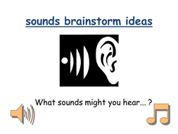sounds brainstorm ideas.ppt