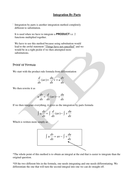 Introduction to Integration By Parts