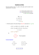 Revision of a Plane