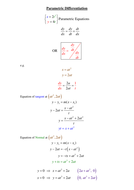 How to do Parametrics