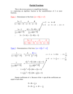 partial Fractions Examples