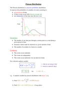 A level Statistics: Poisson Distribution worksheet