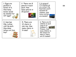 Y3/4 word problems for division and multiplication by Vanadesse ...
