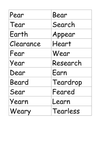 Worksheet Ight Words Worksheet year 5 support for spelling ie ough ight ear by earsnap doc