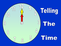 Telling time powerpoint.