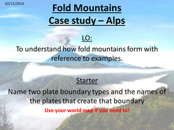 examples of fold mountains