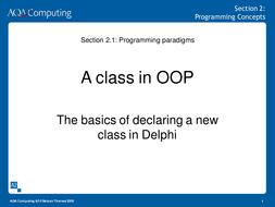 A2 Computing Presentation 1 Programming Conceptsppt