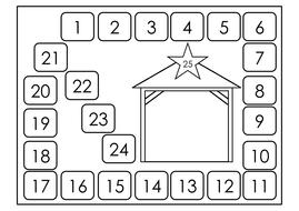 Advent Calendar Nativity Or Blank By Ibuzzybea Teaching