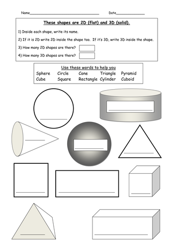 2d And 3d Shapes By Paulonthepc Teaching Resources Tes