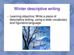winter words descriptive writing by maz teaching resources tes activity