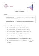 Worksheet on finding Volumes