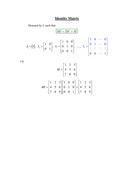 A level, Further Maths: Matrices