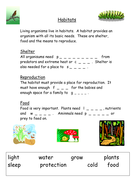 Habitats close worksheet.doc