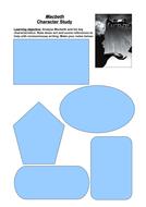 Macbeth: Character Analysis Revision Worksheet