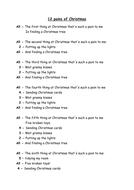 Lyrics To 12 Days Of Christmas.An Alternative To The 12 Days Of Christmas