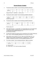 Discrete Random Variables Assessment.doc