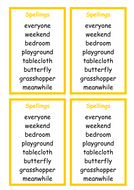 Spellings - compound words