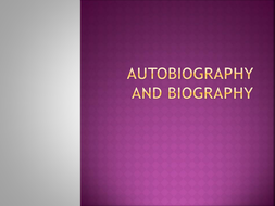 Autobiography Resources