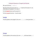 Finding the Equations of Tangents and Normals Notes.doc