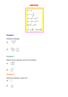 Indices notes and examples.DOC