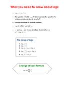 a level maths logarithms worksheets and revision resources tes. Black Bedroom Furniture Sets. Home Design Ideas