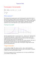 Trapezium Rule Notes and Exercise.doc