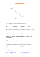 A level Maths: Trigonometry Identities worksheets by