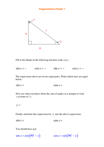 a level maths trigonometry identities worksheets by srwhitehouse teaching resources tes. Black Bedroom Furniture Sets. Home Design Ideas