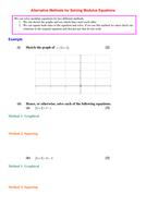 Alternative Methods for Solving Modulus Equations.doc