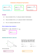 Introduction to Reciprocal Trig Functions.doc