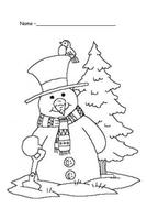 Christmas colouring in pictures