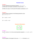 Parametric and implicit differentiation