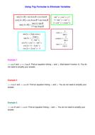 Trig Formulae Elimination of parameters.doc