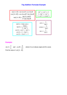 Trig Addition Formulae Example and Questions.doc