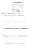 Deriving the Double and Half Angle Formulae.doc