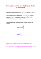 Roots of Quadratics by SRWhitehouse - Teaching Resources - Tes