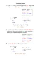 Using Vectors in Projectiles