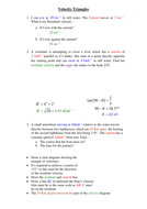 Egs of what a Velocity Triangle is