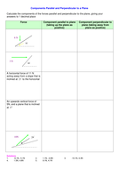 Components parallel and perpendicular to the plane.doc