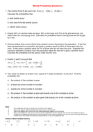 Mixed Probability Questions.DOC