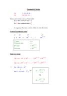 a level Maths: Geometric Sequences Revision Aid