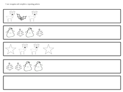 christmas repeating patterns by claireh1039 teaching resources. Black Bedroom Furniture Sets. Home Design Ideas
