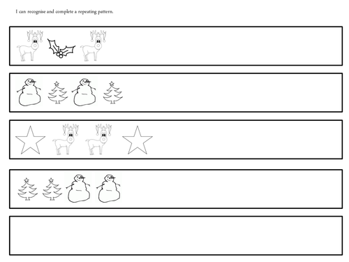 christmas repeating patterns by claireh1039 teaching resources tes. Black Bedroom Furniture Sets. Home Design Ideas