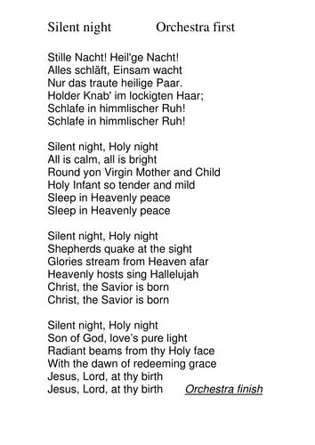 German lyrics of silent night